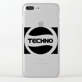 Techno Soda Parody Logo Clear iPhone Case