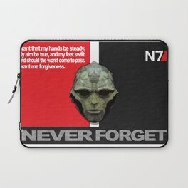NEVER FORGET - Thane Krios - Mass Effect Laptop Sleeve