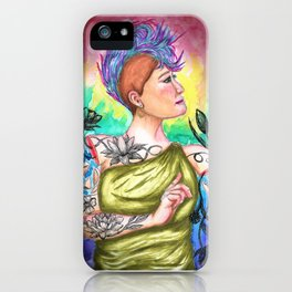 Flowers of My Skin iPhone Case