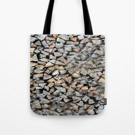 Wood Pile Design Tote Bag
