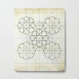 Geometry Sketch Nine Metal Print