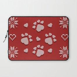 Dog Paws Christmas - Sweater Weather Isle Laptop Sleeve