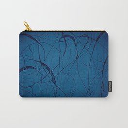Pollock Inspired Blues Party Carry-All Pouch