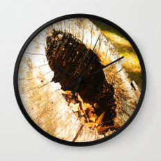 Fall Graveyard Wall Clock