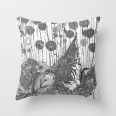Trees and Leaves Throw Pillow