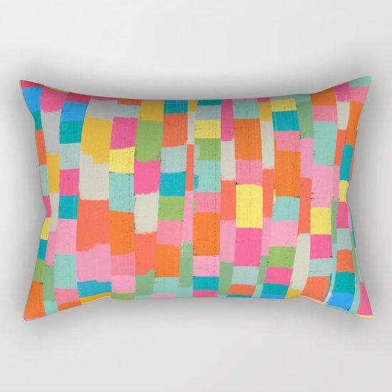 colorful patchwork 2 Rectangular Pillow