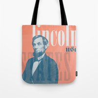 lincoln Tote Bags featuring Lincoln by Thomas Official