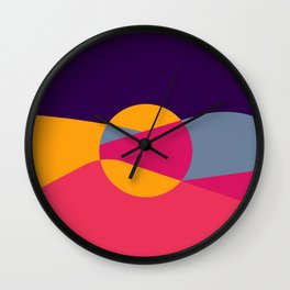 Abstract Desert Art Wall Clock