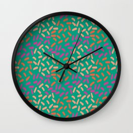 Field of lines Wall Clock