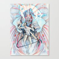 maori Canvas Prints featuring Maori Stingray by Alex Bayliss