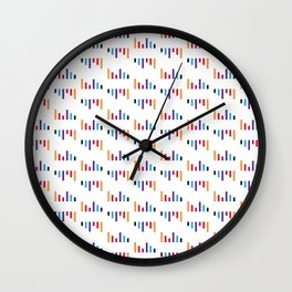 Parallel Lines Colourful #1 Wall Clock