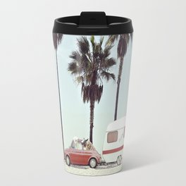 NEVER STOP EXPLORING - CAMPING PALM BEACH Travel Mug