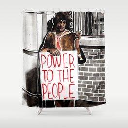 Marsha P. Johnson - POWER TO THE PEOPLE Shower Curtain
