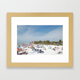 Relaxing at Fort Myers Beach Framed Art Print