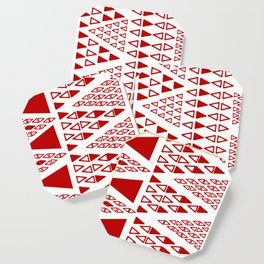 Zig Zag Pattern -  brick red Coaster