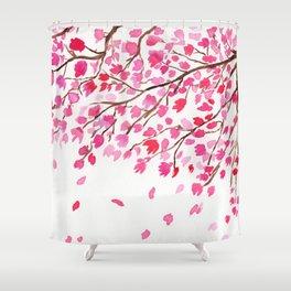 Rain of Cherry Blossom Shower Curtain