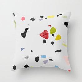 painted terrazzo 1 Throw Pillow