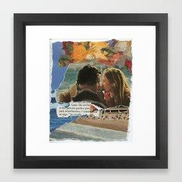 later she invited me Framed Art Print