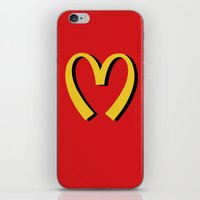 moschino iPhone & iPod Skins featuring McDonald's MOSCHINO by RickyRicardo787