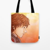 hiccup Tote Bags featuring Hiccup by MaliceZ