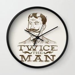 Twice the Man Wall Clock