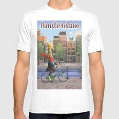 Amsterdam Mens Fitted Tee White MEDIUM