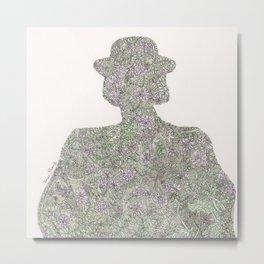 Shadow of Wildflower Metal Print