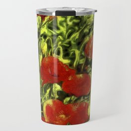 Poppys Van Goth Oil Pastel Art Travel Mug