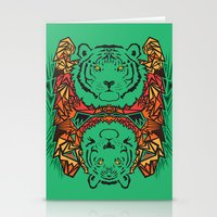 tigers Stationery Cards featuring Tigers by Ornaart