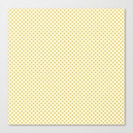 Primrose Yellow Polka Dots Canvas Print