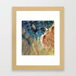 cat2 Framed Art Print