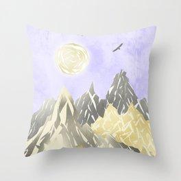 Pearl mountains Throw Pillow
