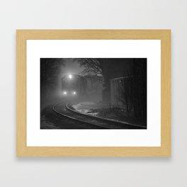 Train In The Fog Framed Art Print