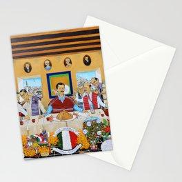 The Mexican Last Supper La Ultima Cena Mexicana by Juan Manuel Rocha Kinkin Stationery Cards