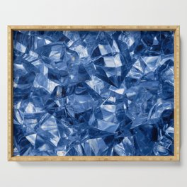 Crushed ice background Serving Tray