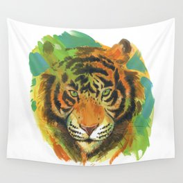 tiger stare Wall Tapestry