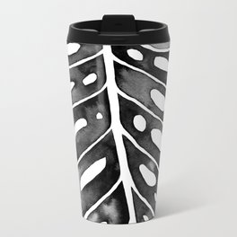 Watercolor Palm Leaf Travel Mug