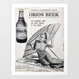 Vintage Orion  Art Print