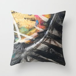 Jungle Over the Rainbow Throw Pillow