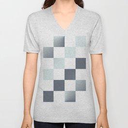 Square Pattern Simple Grid #decor #society6 #buyart Unisex V-Neck