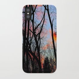 Sunset Through the Tangled Trees iPhone Case