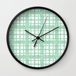 8 Bit Plaid | Mint Wall Clock