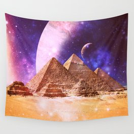 Galaxy Pyramids Wall Tapestry