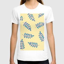 Leaf prints in a primitive digital pattern T-shirt