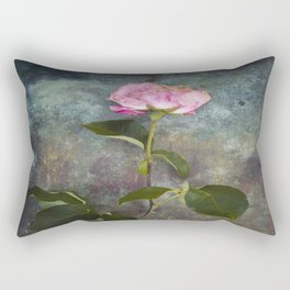 Single Wilted Rose Rectangular Pillow