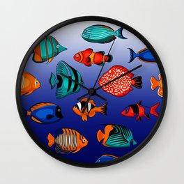Peces tropicales Wall Clock