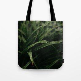Rain on Grass Tote Bag