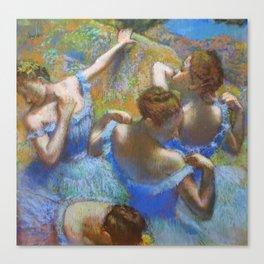 """Edgar Degas """"Dancers in blue"""" Canvas Print"""