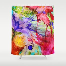 Exploding Flowers Shower Curtain