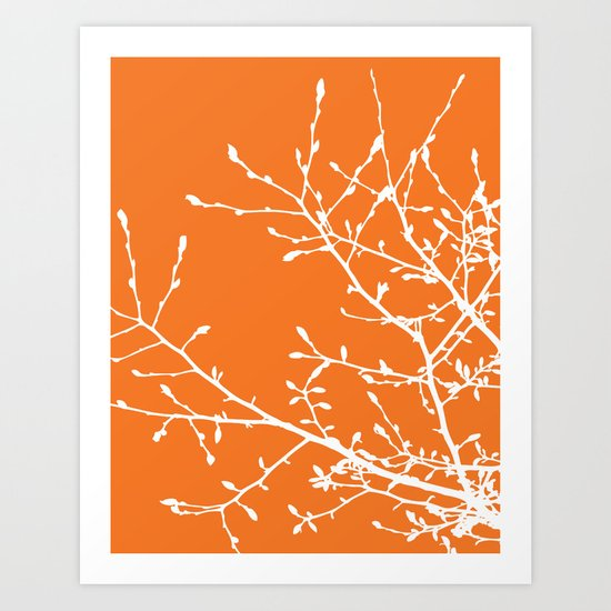 Magnolia Tree Branches Art Print